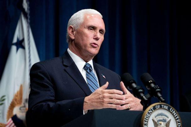 PHOTO:Vice President Mike Pence participates in a White House Coronavirus Task Force news briefing at the US Department of Health and Human Services in Washington, D.C., June 26, 2020. (Michael Reynolds/REX via Shutterstock)