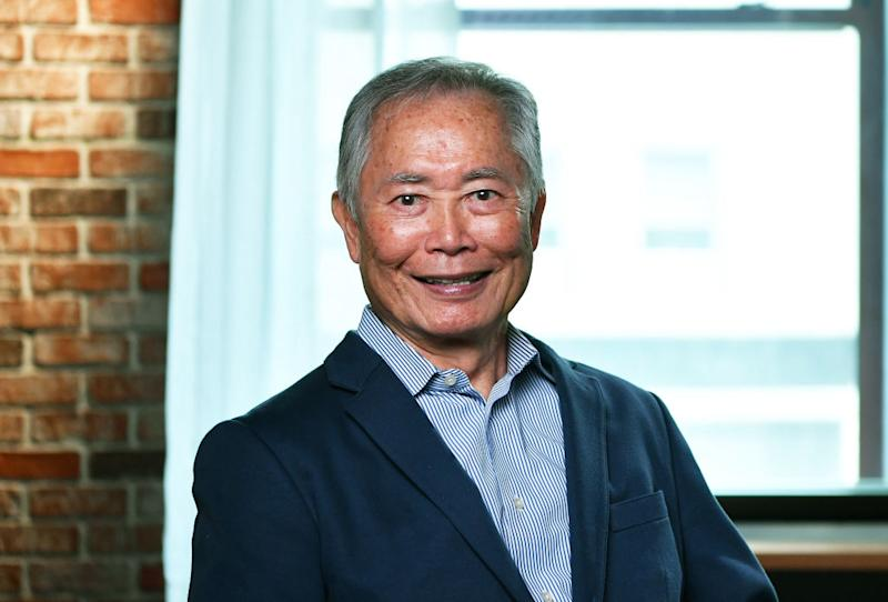 Actor George Takei visits LinkedIn on May 30, 2019, in New York City. (Photo: Slaven Vlasic/Getty Images)