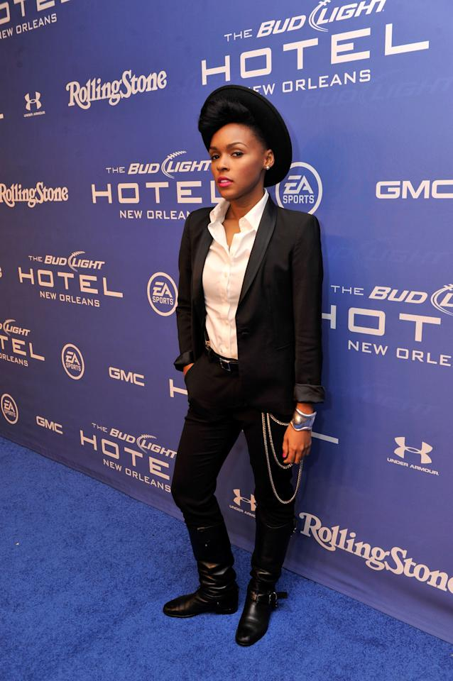 NEW ORLEANS, LA - FEBRUARY 02:  Singer Janelle Monae attends Bud Light Presents Stevie Wonder and Gary Clark Jr. at the Bud Light Hotel on February 2, 2013 in New Orleans, Louisiana.  (Photo by Stephen Lovekin/Getty Images for Bud Light)