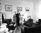 Prince Charles in his room at Trinity College, Cambridge in May 1969. He read History at the college. (PA images)
