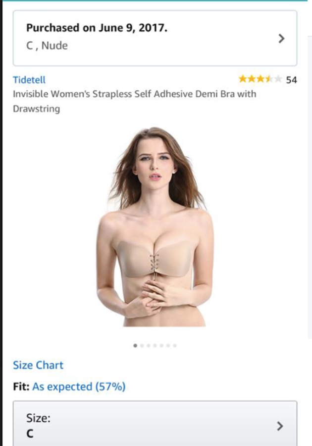 A woman has claimed this bra left her bloody and sore. Photo: Amazon