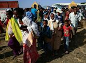 Tens of thousands have fled the fighting, crossing to neighbouring Sudan