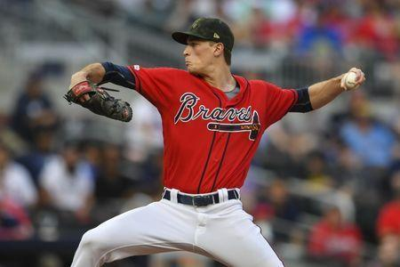 May 17, 2019; Atlanta, GA, USA; Atlanta Braves starting pitcher Max Fried (54) pitches against the Milwaukee Brewers during the second inning at SunTrust Park. Dale Zanine-USA TODAY Sports