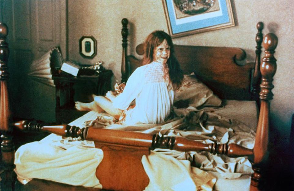 """<a href=""""http://movies.yahoo.com/movie/the-exorcist-1973/"""" data-ylk=""""slk:THE EXORCIST"""" class=""""link rapid-noclick-resp"""">THE EXORCIST</a> (1973) <br>Directed by: <span>William Friedkin</span> <br>Starring: <span>Ellen Burstyn</span>, <span>Max von Sydow</span> and <span>Linda Blair</span>"""