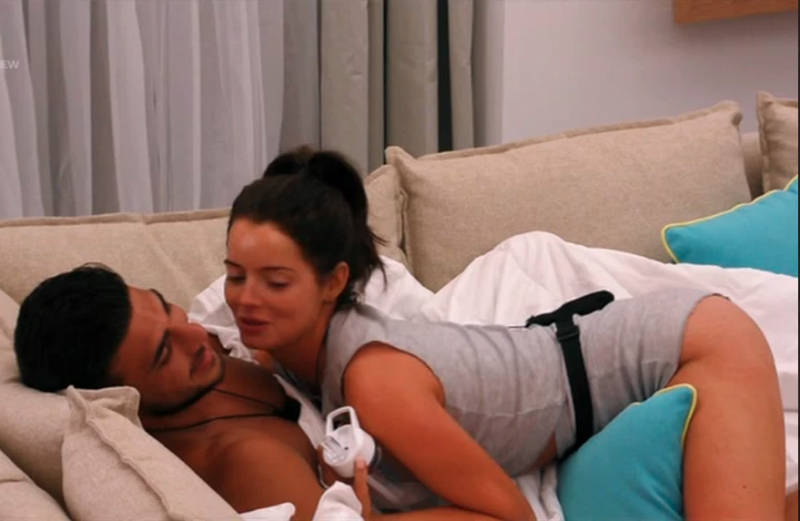 Love Island viewers saw Maura Higgins try to kiss Tommy Fury as he lay on the couch. Photo: Love Island/ITV