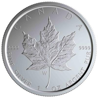 """The Royal Canadian Mint's """"W"""" marked Silver Maple Leaf collector coin"""