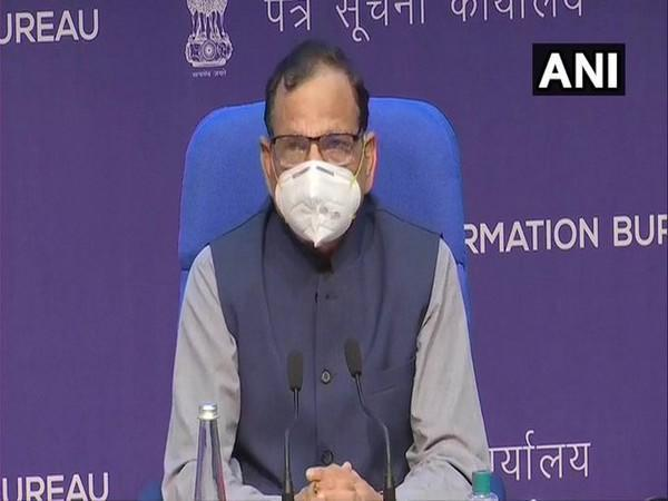 Dr VK Paul, Member-Health, NITI Aayog addressing a weekly press conference on Friday.