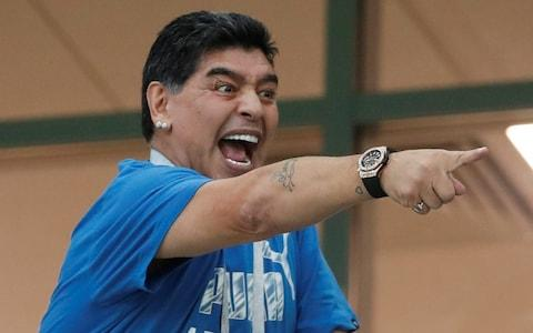 Diego Maradona points - Credit: REUTERS
