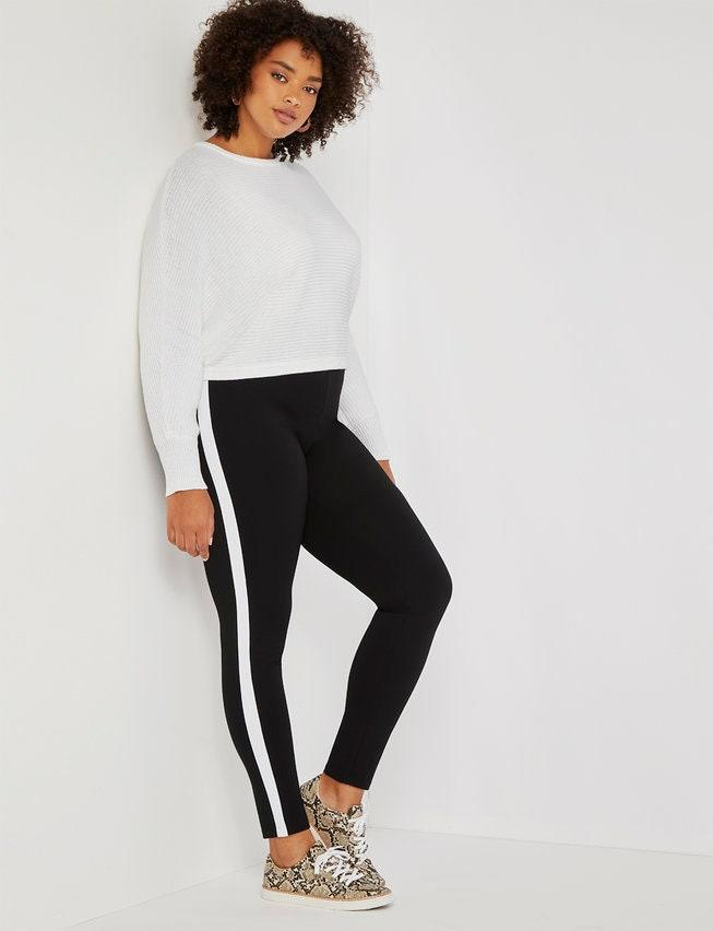 "If you're looking for loungewear that feels like it can easily transition between your couch and errands, these leggings from Eloquii will be your new MVP. The contrasting tuxedo stripe dresses them up and the ankle length is perfect for showing off new sneakers. $74.95, Eloquii. <a href=""https://www.eloquii.com/miracle-flawless-legging-with-white-side-stripe/1148611.html"" rel=""nofollow noopener"" target=""_blank"" data-ylk=""slk:Get it now!"" class=""link rapid-noclick-resp"">Get it now!</a>"