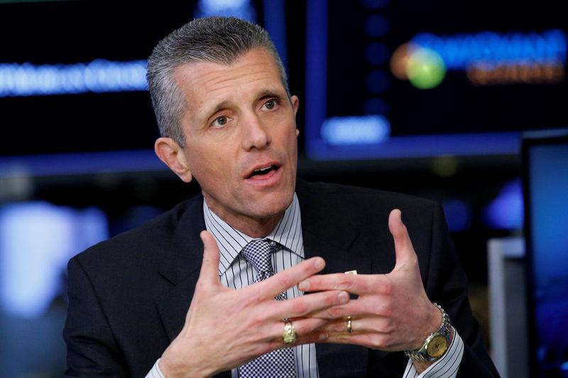 FILE PHOTO: David Cordani, president and CEO of CIGNA Corp., appears on CNBC at the NYSE in New York