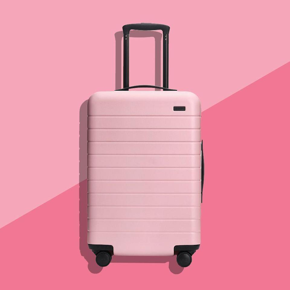 """<p><strong>Away</strong></p><p>awaytravel.com</p><p><strong>$225.00</strong></p><p><a href=""""https://go.redirectingat.com?id=74968X1596630&url=https%3A%2F%2Fwww.awaytravel.com%2Fluggage%2Fcarry-on%2Fblush&sref=https%3A%2F%2Fwww.bestproducts.com%2Flifestyle%2Fg376%2Ftop-christmas-gift-ideas%2F"""" rel=""""nofollow noopener"""" target=""""_blank"""" data-ylk=""""slk:Shop Now"""" class=""""link rapid-noclick-resp"""">Shop Now</a></p><p>This carry-on luggage is pink and posh, and we're freaking out over it. Seriously, if you have a travel junkie in your life, she'll be psyched to make this suitcase her new travel sidekick. </p><p>We also love Away's <a href=""""https://go.redirectingat.com?id=74968X1596630&url=https%3A%2F%2Fwww.awaytravel.com%2Forganizers%2Fpacking-cubes-four%2Fblush&sref=https%3A%2F%2Fwww.bestproducts.com%2Flifestyle%2Fg376%2Ftop-christmas-gift-ideas%2F"""" rel=""""nofollow noopener"""" target=""""_blank"""" data-ylk=""""slk:Insider Packing Cubes"""" class=""""link rapid-noclick-resp"""">Insider Packing Cubes</a> for keeping all of her carry-on contents neatly squared away.</p><p><strong>More:</strong> <a href=""""https://www.bestproducts.com/lifestyle/a28971631/away-luggage-review/"""" rel=""""nofollow noopener"""" target=""""_blank"""" data-ylk=""""slk:Check Out Our Full Review of Away's Carry-On"""" class=""""link rapid-noclick-resp"""">Check Out Our Full Review of Away's Carry-On</a></p>"""