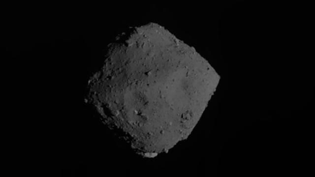 "Japan's Hayabusa2 spacecraft departed from the asteroid Ryugu last night to begin its journey back to Earth. This is one of the photos Hayabusa2 took of Ryugu shortly after its departure. The spacecraft will continue to do ""farewell observations"" of the asteroid as it drifts farther away in space. It will arrive back on Earth at the end of next year with samples from the asteroid's surface."