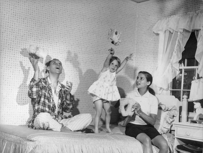 Ruth Bader Ginsburg, her husband Martin and their daughter Jane in 1958.