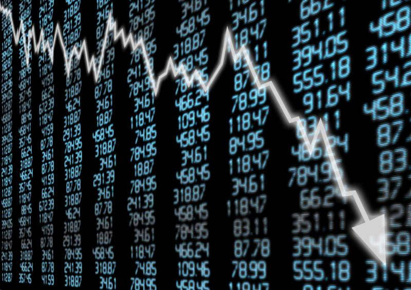 Share prices down