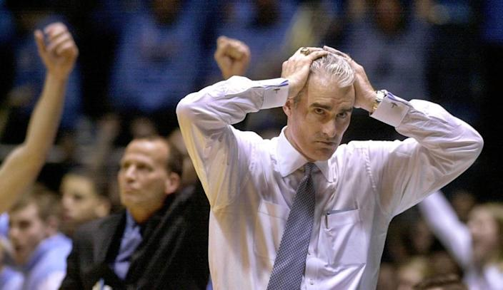 Matt Doherty was a demonstrative head coach, both on the bench and in the locker room. After his time at UNC, he was also the head coach at Florida Atlantic and at SMU.
