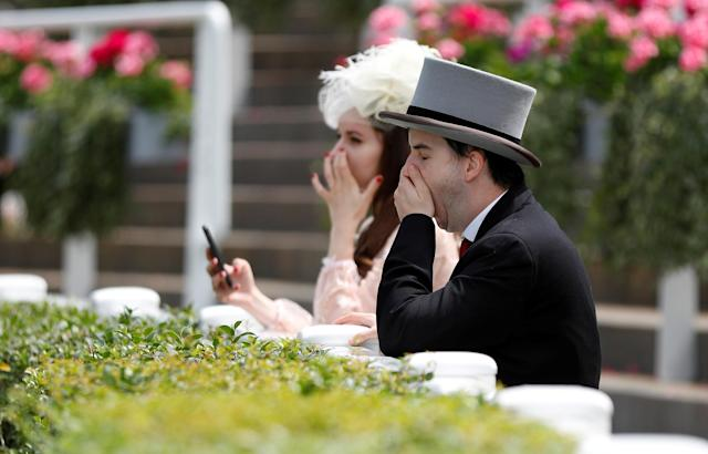 Horse Racing - Royal Ascot - Ascot Racecourse, Ascot, Britain - June 23, 2018 Racegoers before the races at Ascot Racecourse REUTERS/Peter Nicholls TPX IMAGES OF THE DAY