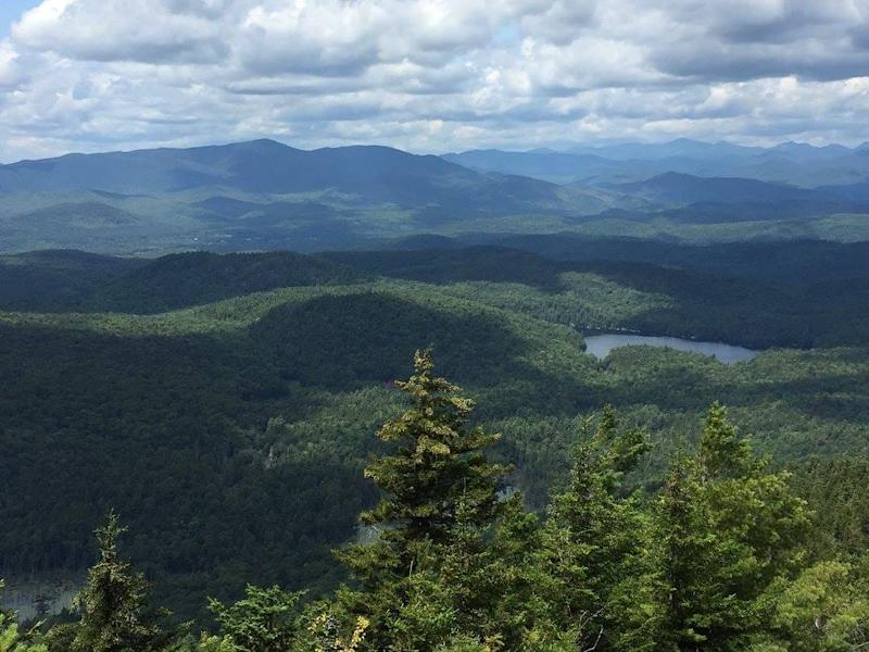 The view from Pharaoh Mountain outside Schroon Lake, New York.