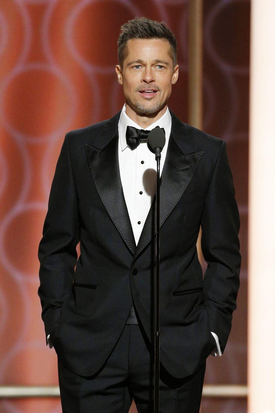 """<p><strong>Born</strong>: William Bradley Pitt</p><p>Despite going by his middle name in his professional life, <em><a href=""""https://pagesix.com/2018/01/02/brad-pitt-uses-his-real-name-when-flirting/"""" rel=""""nofollow noopener"""" target=""""_blank"""" data-ylk=""""slk:Page Six"""" class=""""link rapid-noclick-resp"""">Page Six</a></em> reports that the newly-single actor introduces himself by his given name, William, when he's flirting with women. We're guessing any woman would see right through Pitt's not-so-pseudonym.</p>"""