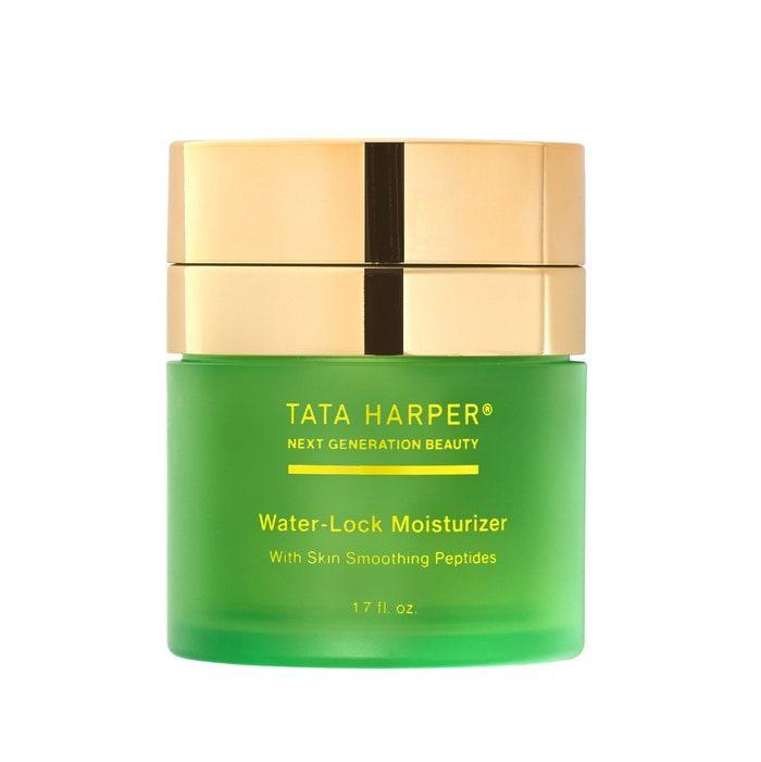 """It should come as no surprise that Tata Harper, a brand that has <a href=""""https://www.allure.com/sponsored/story/tata-harper-on-natural-ingredients-and-green-beauty?mbid=synd_yahoo_rss"""" rel=""""nofollow noopener"""" target=""""_blank"""" data-ylk=""""slk:always appreciated"""" class=""""link rapid-noclick-resp"""">always appreciated</a> what the planet's natural resources can do for our skin, is showing that appreciation by helping the planet through sustainability efforts. The Water-Lock Moisturizer combines hydration-retaining peptides derived from orange blossom with plumping hyaluronic acid to create a day cream that's both fresh and refreshable. Simply pop a <a href=""""https://shop-links.co/1736444794562374133"""" rel=""""nofollow noopener"""" target=""""_blank"""" data-ylk=""""slk:refill pod"""" class=""""link rapid-noclick-resp"""">refill pod</a> in the beautiful green and gold jar any time you run out of the lightweight, skin-smoothing concoction."""