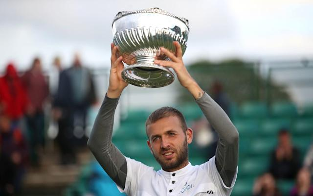 Dan Evans won the men's singles title at the Nature Valley Open at Nottingham Tennis Centre - PA