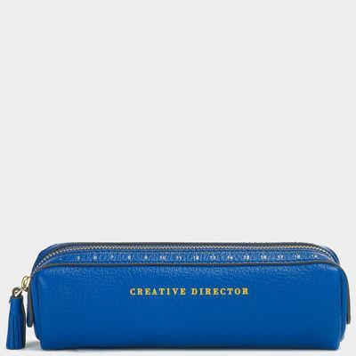 "<p>Channel your elementary school days with this fancy take on a pencil case, or use it to stash eyeliners and makeup brushes. <a href=""http://us.anyahindmarch.com/Organization-%26-Stationery/Pens-%26-Pencils-Case/Electric-Blue-5050925914222.html?cgid=Organization%20and%20Stationery&start=49"" rel=""nofollow noopener"" target=""_blank"" data-ylk=""slk:Anya Hindmarch Pens and Pencils Case"" class=""link rapid-noclick-resp"">Anya Hindmarch Pens and Pencils Case </a>($255)</p>"