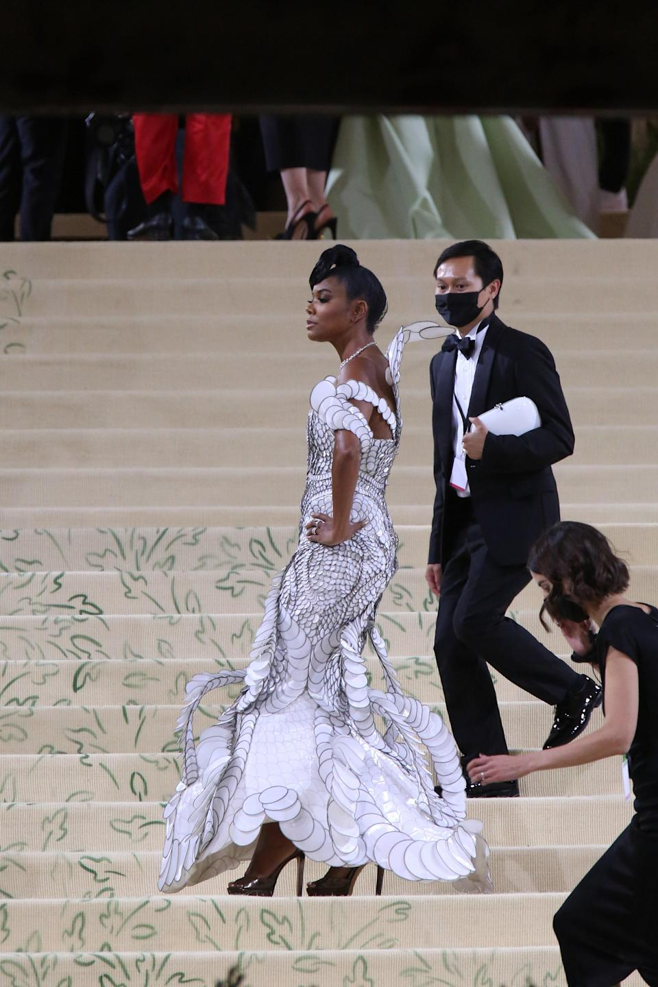 """Gabrielle Union attends The Metropolitan Museum of Art's Costume Institute benefit gala celebrating the opening of the """"In America: A Lexicon of Fashion"""" exhibition on Monday, Sept. 13, 2021, in New York. - Credit: ZUMAPRESS.com / MEGA"""