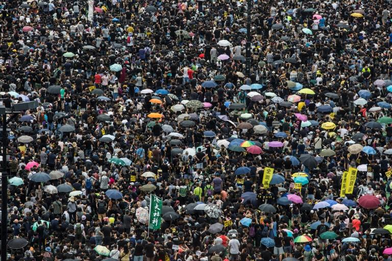 Facebook said some of the posts from accounts it banned compared the protesters in Hong Kong with Islamic State group militants