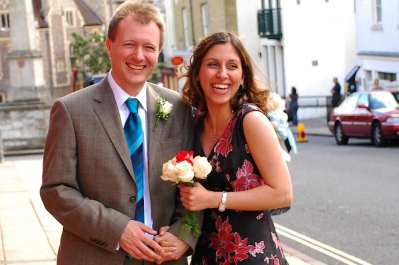Nazanin and Richard on their wedding day in 2009 (Azadeh Fatehrad)