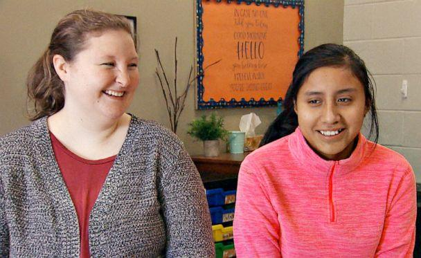 PHOTO: Fourth grade teacher Morgan Taake of Postville, Ia., adopted 12-year-old Jeidy Castillo Hernandez, whose parents were deported back to Guatemala after the 2008 ICE raid of the town's meatpacking plant. (ABC News )