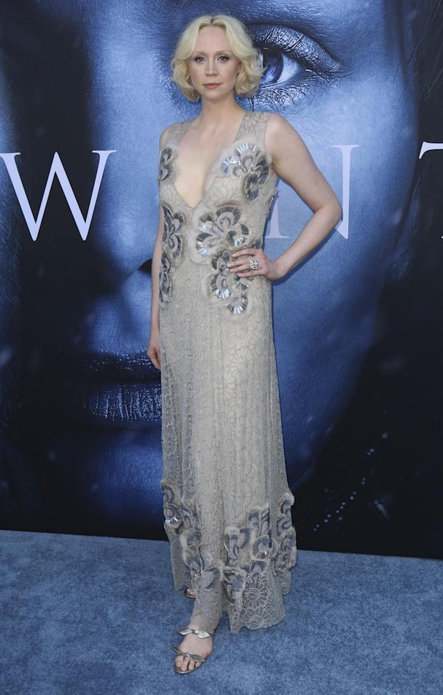 <p>The statuesque beauty turned up in an embellished semi-sheer gown. (Photo: AP) </p>