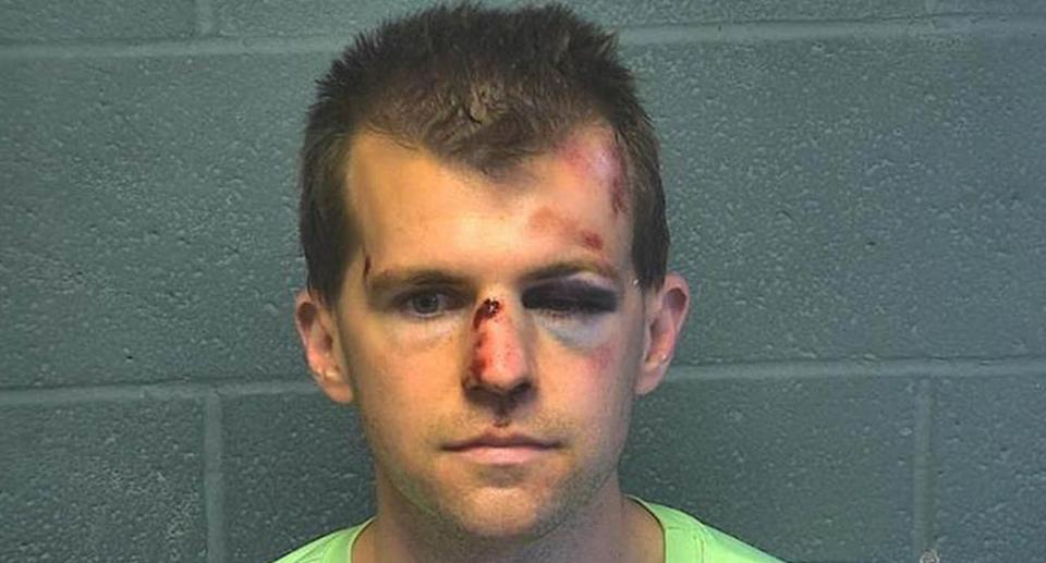 Michael Coghill, 33, is pictured in a mugshot.