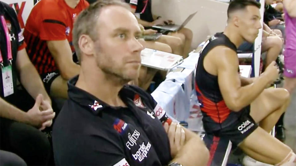 Ben Rutten, pictured here sitting on the interchange bench.