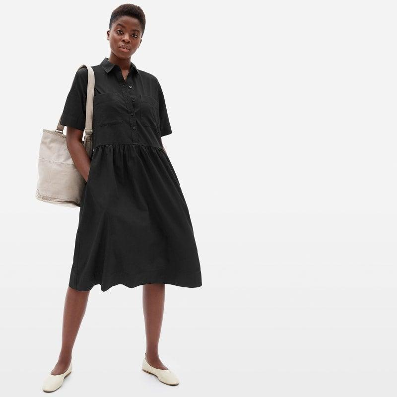 """<h2>Everlane Parklet Shirtdress</h2><br><strong><em>The Chameleon</em></strong><br><br>It's a bird, it's a plane, it's — the most deceptively perfect dress than Everlane has ever produced? With a dead simple silhouette and slightly menswear-ish details, reviewers find that this loose, easy frock can go high, low, vintage, new, and everything in between. <br><br><strong>The Hype: </strong>4.58 out of 5 stars; 36 reviews on Everlane.com<br><br><strong>What They're Saying: </strong>""""I love how this dress looks — if I leave it as is it looks very modern and grungy, especially with Dr. Martens boots. If I roll the sleeves up a bit and put a belt on, it looks like a very cute classical '50s summer dress. I got the one in black and smallest size and it fits me perfectly. Very happy with the purchase!"""" — Kris R., Everlane.com reviewer<br><br><em>Shop <strong><a href=""""https://www.everlane.com/"""" rel=""""nofollow noopener"""" target=""""_blank"""" data-ylk=""""slk:Everlane"""" class=""""link rapid-noclick-resp"""">Everlane</a></strong></em><br><br><strong>Everlane</strong> The Parklet Shirtdress, $, available at <a href=""""https://go.skimresources.com/?id=30283X879131&url=https%3A%2F%2Fwww.everlane.com%2Fproducts%2Fwomens-parklet-shirt-dress-black%3Fcollection%3Dwomens-dresses"""" rel=""""nofollow noopener"""" target=""""_blank"""" data-ylk=""""slk:Everlane"""" class=""""link rapid-noclick-resp"""">Everlane</a>"""