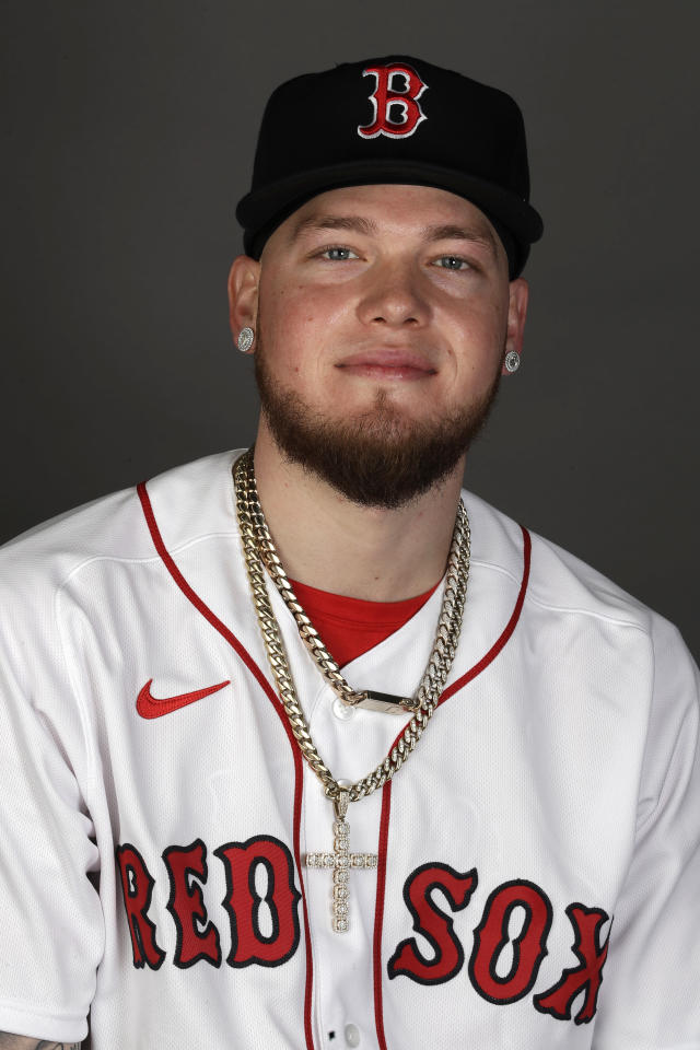 This is a 2020 photo of Alex Verdugo of the Red Sox baseball team. This image reflects the 2020 active roster as of Feb. 19, 2020 when this image was taken. (AP Photo/John Bazemore)