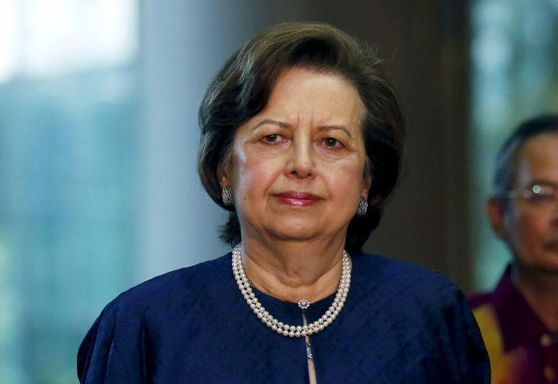 Malaysia's Bank Negara Governor Zeti Akhtar Aziz arrives at an event announcing revisions to the fiscal budget in Putrajaya, Malaysia