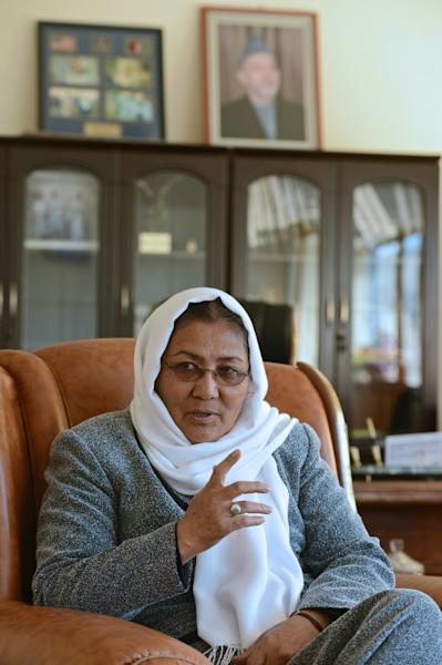 Habiba Sarabi, seen here in a 2012 AFP interview when she was governor of Bamiyan province, will be among five women on an Afghan team negotiating with the Taliban (AFP Photo/MASSOUD HOSSAINI)