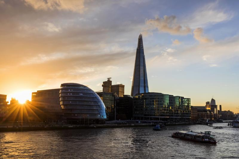 England, London, Southwark, London Bridge City, More London Riverside Office Complex and The Shard (Photo by: Dukas/Universal Images Group via Getty Images)