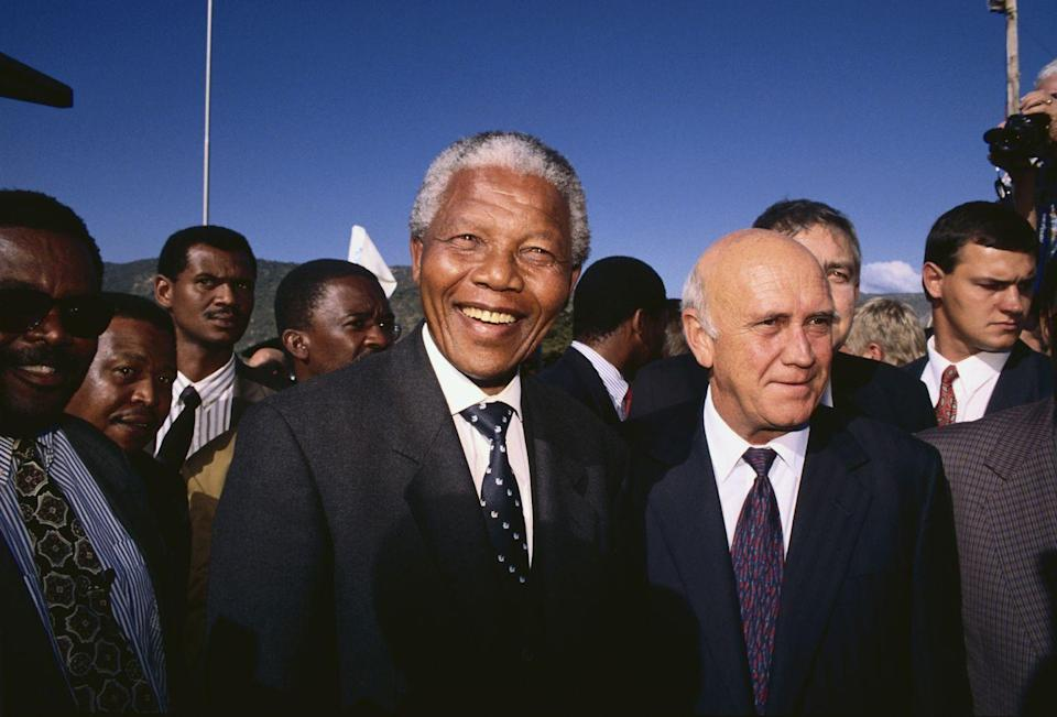 """<p>Let's start with the reason we're all here. Nelson Mandela, who this theory is named after, died in 2013. However, countless people <a href=""""https://www.pri.org/stories/2017-01-09/ever-thought-someone-who-died-was-already-dead-science-can-explain"""" rel=""""nofollow noopener"""" target=""""_blank"""" data-ylk=""""slk:distinctly remember"""" class=""""link rapid-noclick-resp"""">distinctly remember</a> him dying in prison in the 1980s. But his death isn't the only example of a Mandela Effect. We have been wrong about so many dates, details, and more. Keep going for more commonly misremembered moments in history</p>"""