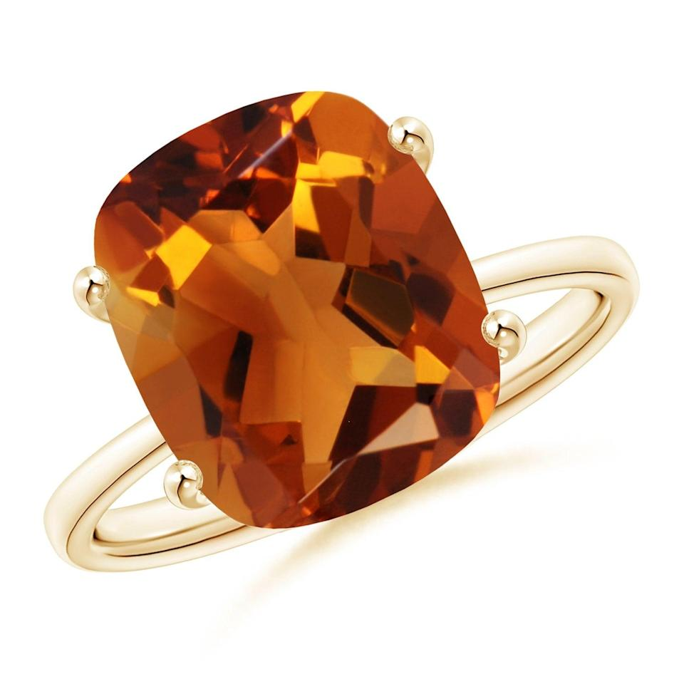"""<br><br><strong>Angara</strong> Prong-Set Cushion Citrine Cocktail Ring, $, available at <a href=""""https://go.skimresources.com/?id=30283X879131&url=https%3A%2F%2Fwww.angara.com%2Fp%2Fprong-set-cushion-citrine-cocktail-ring-sr1894ct"""" rel=""""nofollow noopener"""" target=""""_blank"""" data-ylk=""""slk:Angara"""" class=""""link rapid-noclick-resp"""">Angara</a>"""