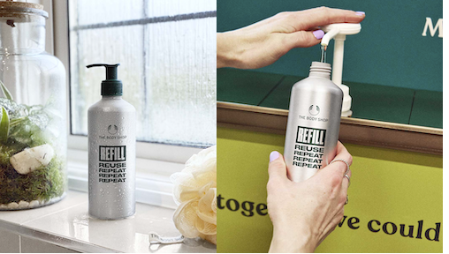 Go Green with The Body Shop: Refill Stations, Recycling Scheme, Commitment to be 100% Vegan