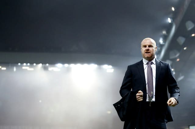 Dark clouds are forming over Old Trafford, not that Burnley boss Sean Dyche cares (Martin Rickett/PA)