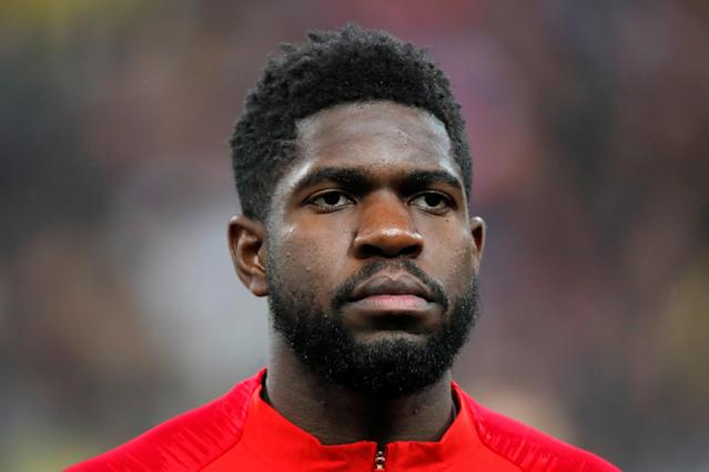 Soccer Football - International Friendly - France vs Colombia - Stade De France, Saint-Denis, France - March 23, 2018 France player Samuel Umtiti. Picture taken March 23, 2018. REUTERS/Charles Platiau