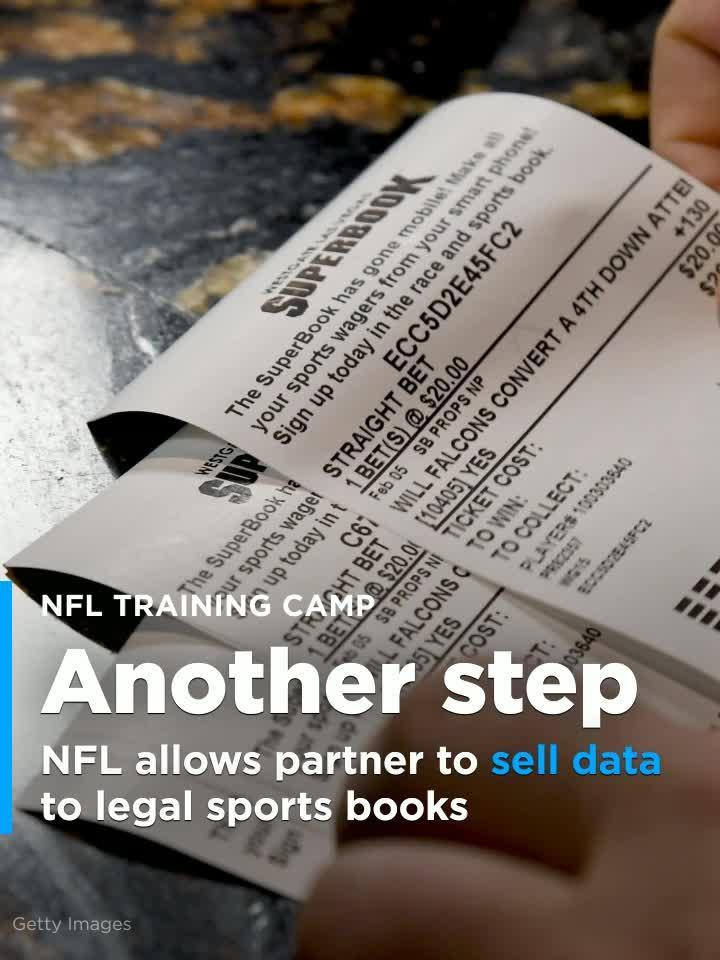 NFL takes another gambling step, allows partner to sell data to legal  sports books