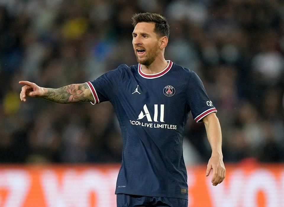 PSG's Lionel Messi could be a doubt for next week's Champions League clash with Manchester City (Francois Mori/AP/PA) (AP)