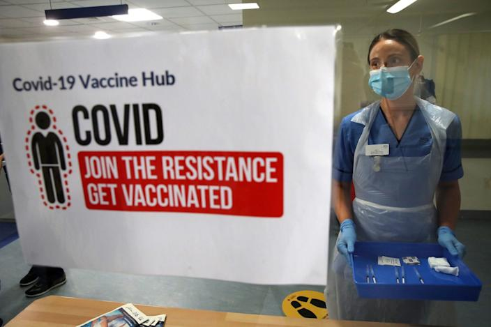 vaccine rollout in Uk Scotland coronavirus