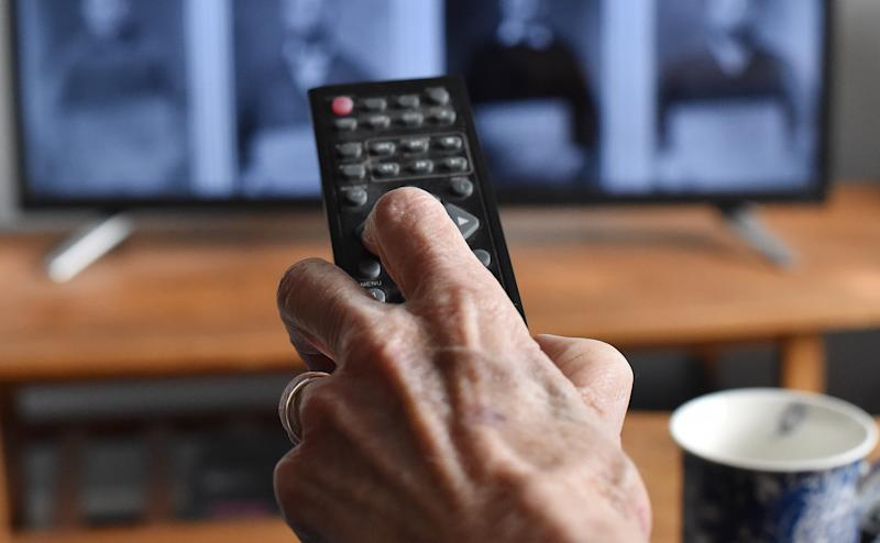 Generic old person watching TV. TV Licensing customers over 75 will remain covered by a free TV licence until 31 May 2020. PA Photo. Picture date: Wednesday January 15, 2020. Following the BBC�s policy announcement on the future of the over 75s TV Licence fee, TV Licensing is advising customers currently receiving a free licence that they need not take any immediate action and that they will be supported through the changes when the current arrangement for free over 75 licences paid for by the UK Government comes to an end next year. Further to a public consultation, the BBC has announced that from June next year the BBC will fund a free licence for over 75s in receipt of Pension Credit. Photo credit should read: Nick Ansell/PA Wire