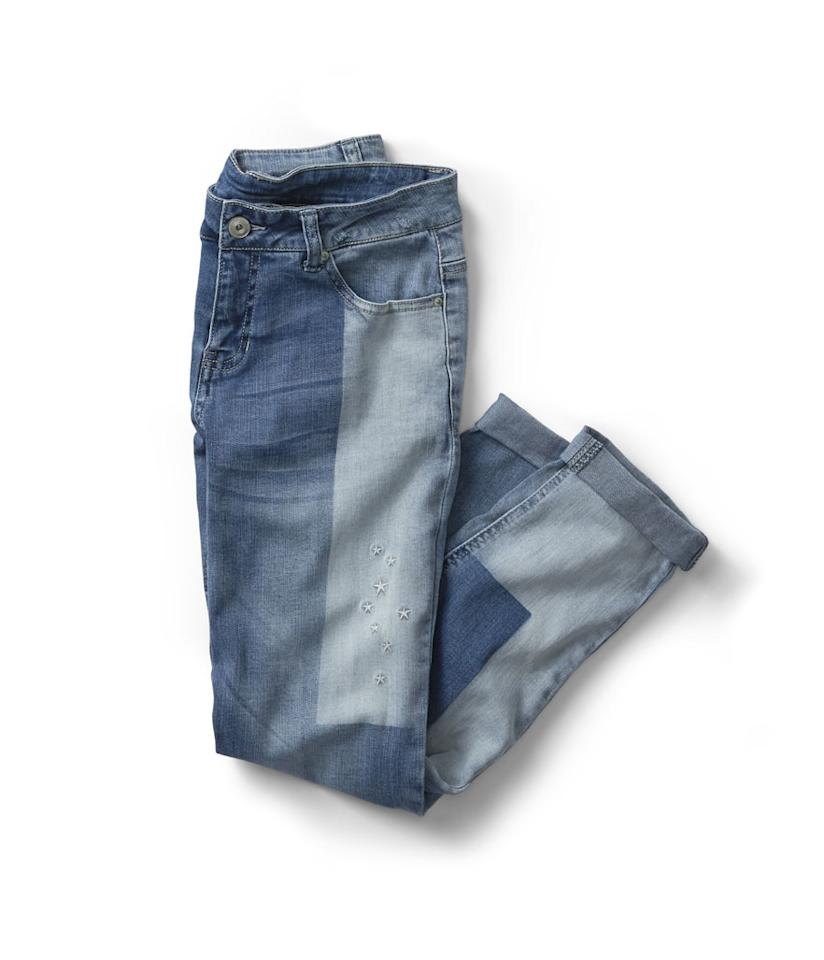 """<p>Embroidered Star Girlfriend Jeans, $19, <a rel=""""nofollow"""" href=""""https://www.walmart.com/ip/Time-and-Tru-Women-s-Embroidered-Star-Girlfriend-Jeans/929393754"""">walmart.com</a>. (Photo: Courtesy of Walmart) </p>"""
