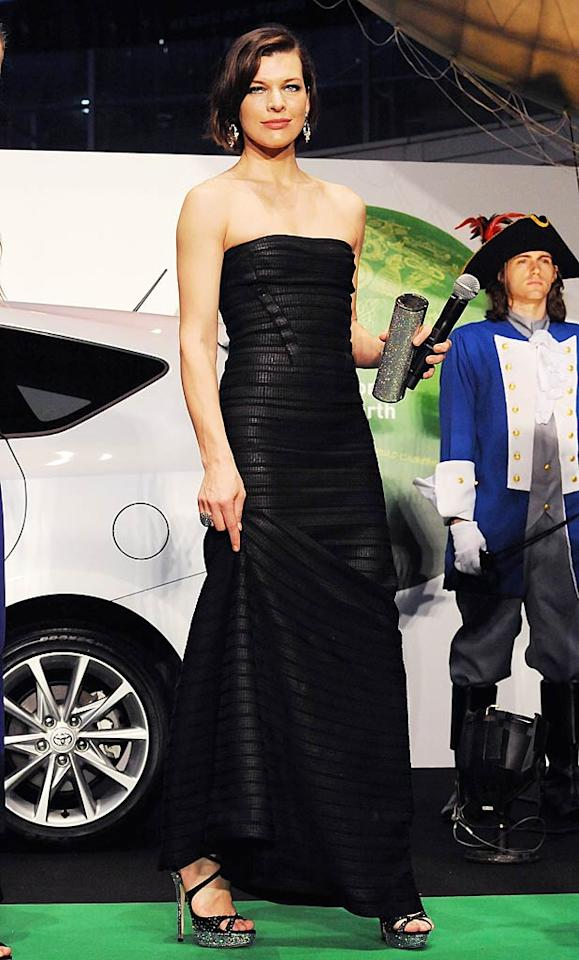 "Milla Jovovich never disappoints, and she certainly didn't at the Japanese premiere of ""The Three Musketeers."" Her black bandage Herve Leger by Max Azria dress is undoubtedly one of the fiercest frocks of 2011. Her sparkly Jimmy Choo stilettos are also some of the sexiest shoes we've seen this year. (10/22/11)"