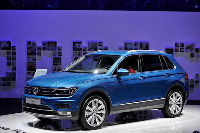 <p>Volkswagen Tiguan two-wheel-drive SUV<br>(Photo by Harold Cunningham/Getty Images) </p>