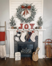 "<p>Make a statement without spending hours perfecting your Christmas mantel decor. All you need are some wooden letters to spell out a holiday word or phrase like ""joy."" </p><p><em>See more at <a href=""https://www.instagram.com/p/B6Vo5h8nF1Q/"" rel=""nofollow noopener"" target=""_blank"" data-ylk=""slk:Vintage Grace Design"" class=""link rapid-noclick-resp"">Vintage Grace Design</a>.</em> </p><p><a class=""link rapid-noclick-resp"" href=""https://www.amazon.com/Ivenf-Christmas-Decoration-Fireplaces-Decorations/dp/B08BZ93LSG?tag=syn-yahoo-20&ascsubtag=%5Bartid%7C10072.g.34484299%5Bsrc%7Cyahoo-us"" rel=""nofollow noopener"" target=""_blank"" data-ylk=""slk:SHOP LETTERS"">SHOP LETTERS</a></p>"